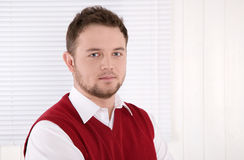 Portrait of handsome consultant at office. Stock Photos