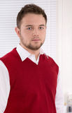 Portrait of handsome consultant at office. Royalty Free Stock Photos