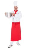 Portrait of a handsome cook Royalty Free Stock Photos