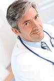 Portrait of handsome doctor Stock Image