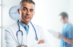 Portrait of a handsome doctor Royalty Free Stock Photography