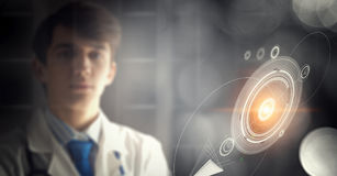Portrait of handsome doctor Stock Images