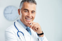 Portrait of a handsome doctor Royalty Free Stock Images