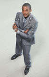 Portrait of a handsome elderly business man Stock Images