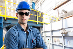 Portrait of an handsome engineer Stock Photo