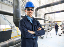 Portrait of an handsome engineer Stock Photos