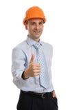 Portrait of handsome engineer Stock Photo