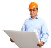 Portrait of handsome engineer at work Royalty Free Stock Images