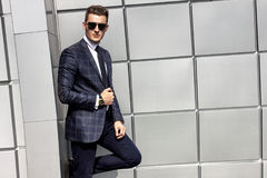 Portrait of handsome fashion male model man Royalty Free Stock Photography