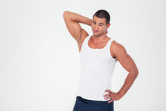 Portrait of a handsome fitness man Royalty Free Stock Image