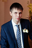 Portrait of handsome groom. Beauty portrait of handsome groom Royalty Free Stock Images
