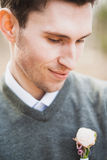 Portrait of handsome guy Stock Images