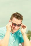 Portrait of handsome guy during summertime Royalty Free Stock Image