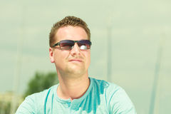 Portrait of handsome guy during summertime Royalty Free Stock Photos