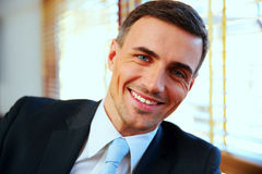 Portrait of a handsome happy businessman Royalty Free Stock Images