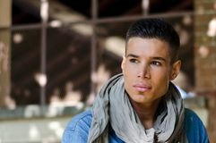 Portrait of handsome latino male model Stock Photo