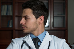 Portrait Of A Handsome Male Doctor Stock Photo