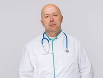 Portrait of a handsome male doctor. Studio Royalty Free Stock Photography