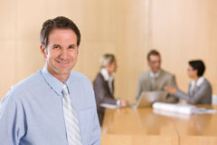 Portrait of handsome male executive Stock Image