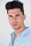 Portrait of a handsome male fashion model looking at camera Stock Photo