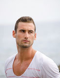 Portrait of handsome male model Royalty Free Stock Images