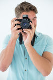 Portrait of a handsome male photographer Royalty Free Stock Images