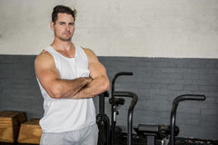 Portrait of handsome man with arms crossed Stock Photos