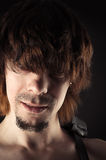Portrait of a handsome man with bangs hair Royalty Free Stock Photography