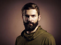Portrait of handsome man with beard stock photo