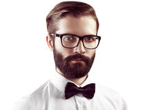 Portrait of handsome man with beard royalty free stock images