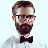 Portrait of handsome man with beard stock image