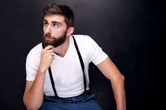 Portrait of handsome man with beard. Stock Images