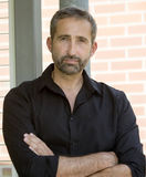 Portrait of handsome man in black shirt Stock Photo