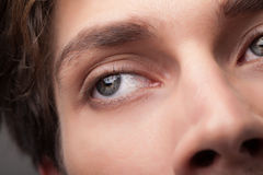 Portrait of a handsome man close up eye Stock Image