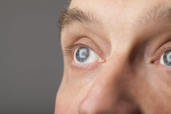 Portrait of a handsome man close up eye Stock Photo