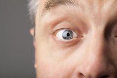 Portrait of a handsome man close up eye Stock Photography