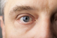 Portrait of a handsome man close up eye Stock Images