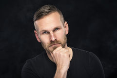Portrait of an handsome man Stock Images
