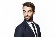 Portrait of handsome man Stock Photos