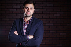 Portrait of handsome man in jacket Stock Photography