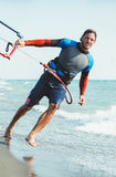 Portrait of handsome man kitesurfer Royalty Free Stock Photos