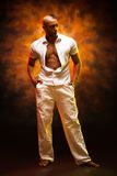 Portrait of a handsome man latino dancer. Stock Images