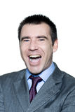 Portrait of a handsome man laughing Royalty Free Stock Photo