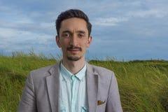 Portrait of a handsome man outdoors. Portrait of a handsome caucasian man outdoors Stock Photos