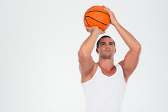 Portrait of a handsome man playing in basketball Royalty Free Stock Photography