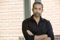 Portrait of handsome man wearing a black shirt Stock Photos