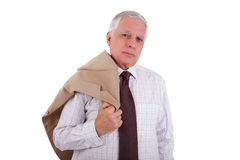 Portrait of a handsome mature businessman, holding Stock Photography
