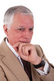 Portrait of a handsome mature businessman, thinkin Stock Image