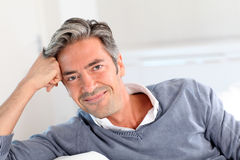 Portrait of handsome mature man Stock Photography