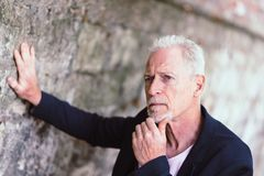 Portrait of handsome mature man Royalty Free Stock Photo